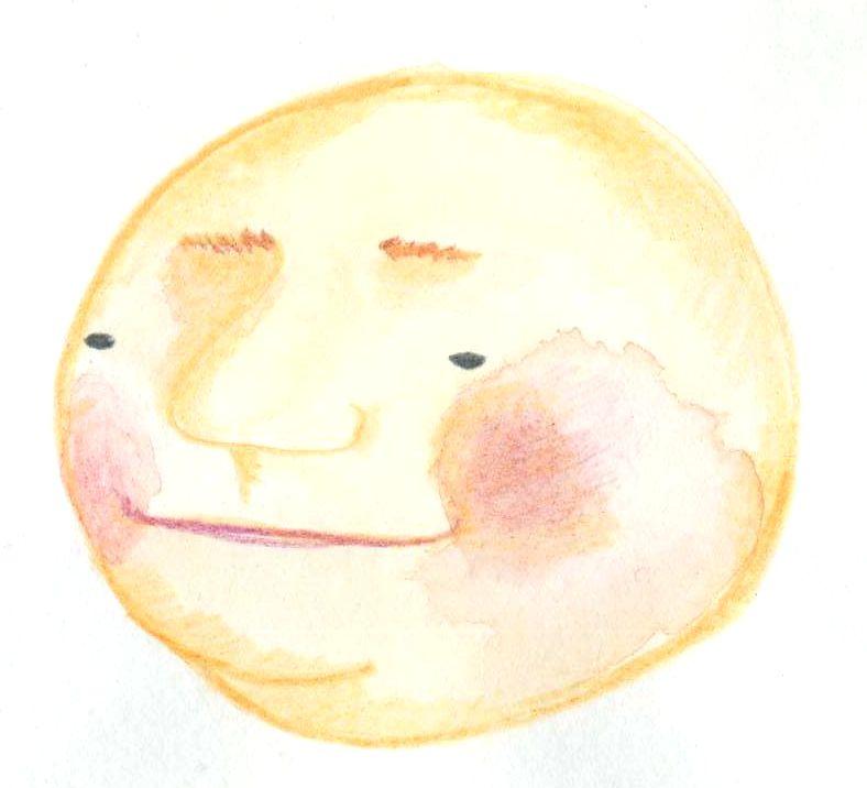 丸い大きなお顔