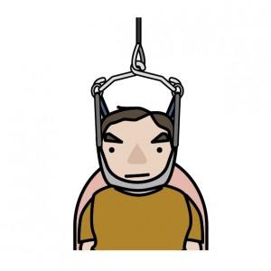 首の牽引 寝違え