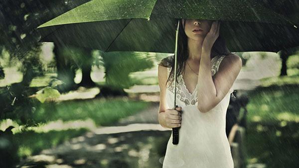 雨がしとしと