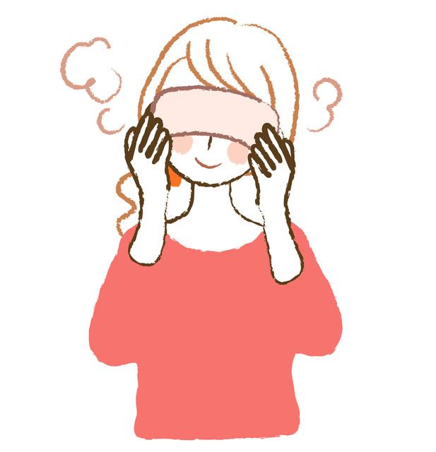ホットタオル 眼精疲労 締めつけられる頭痛